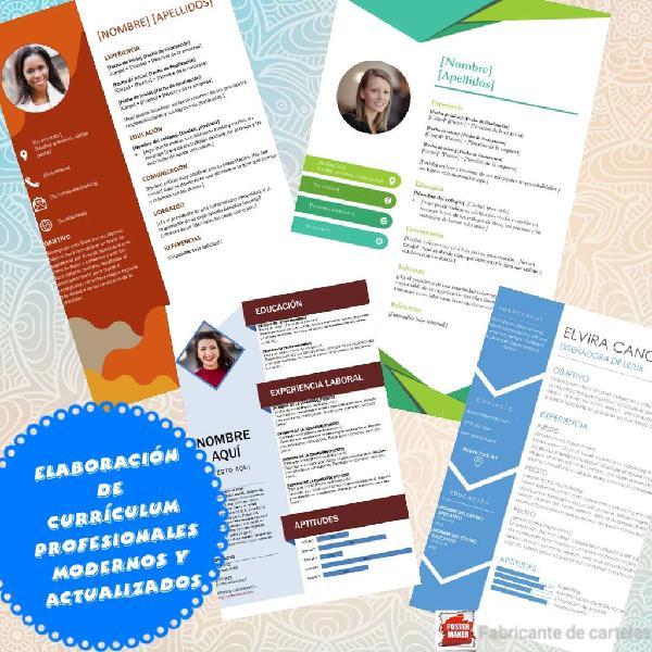Elaboración de currículum profesionales