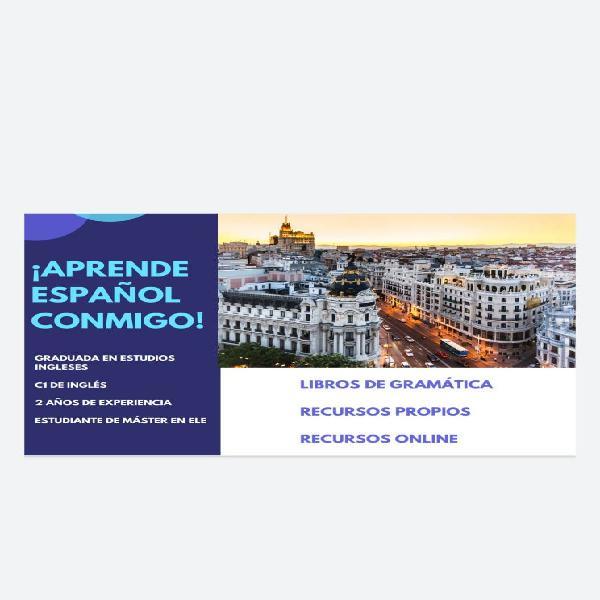 Española imparte clases de español online
