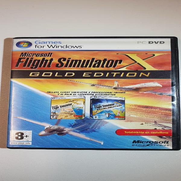 Flight simulator x gold edición