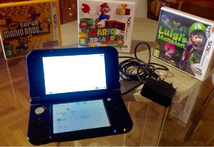 Nintendo 3ds xl azul platino (impecable)