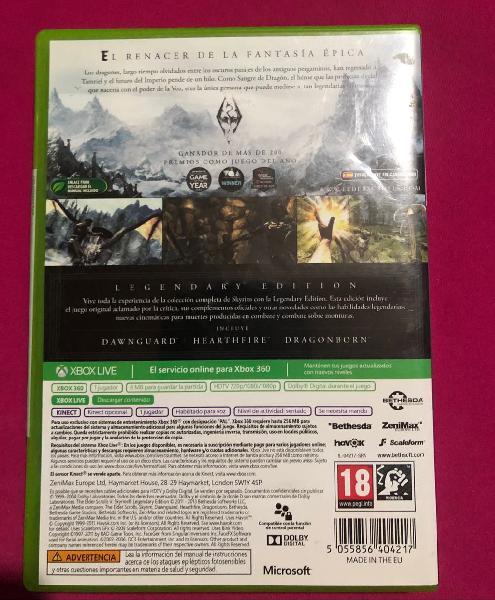 Skyrim legendary edition xbox360