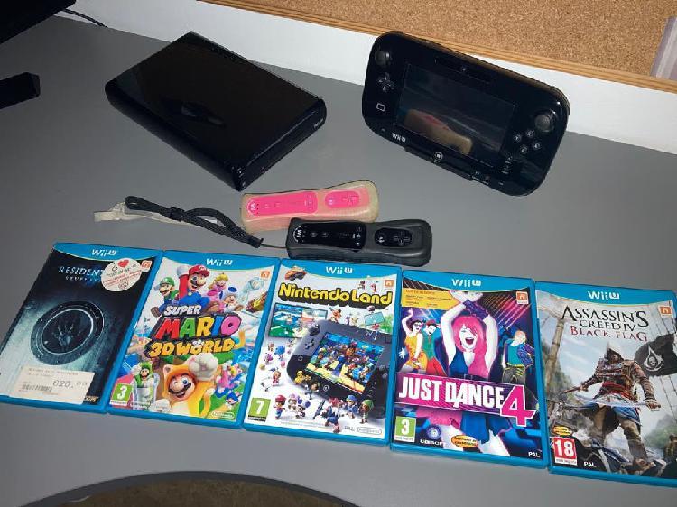 Wii u + mandos + 5 juegos