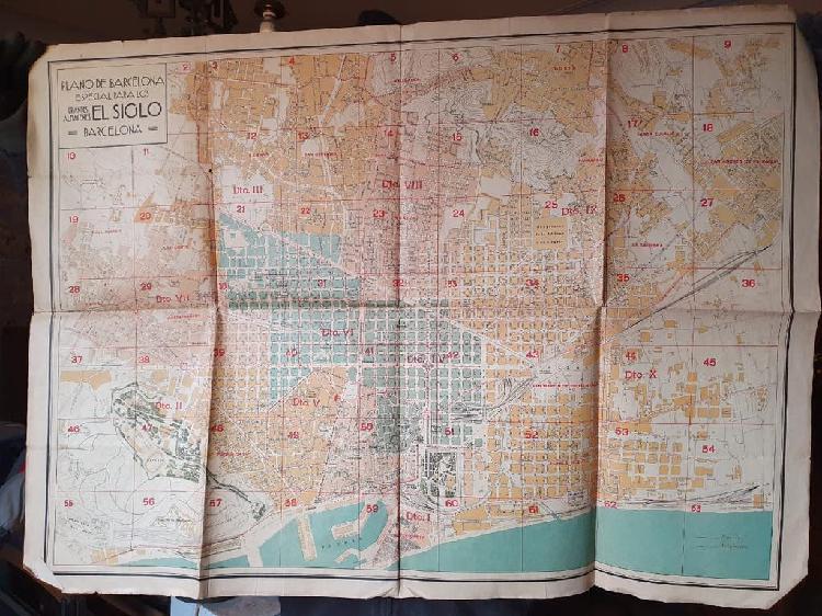 Plano de barcelona años 20