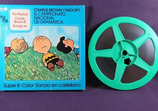 Charlie brown y snoopy-super 8mm