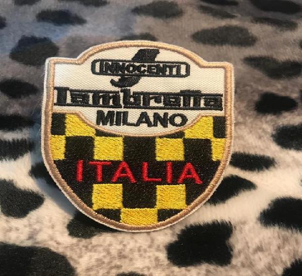 Parche bordado lambretta milano italia