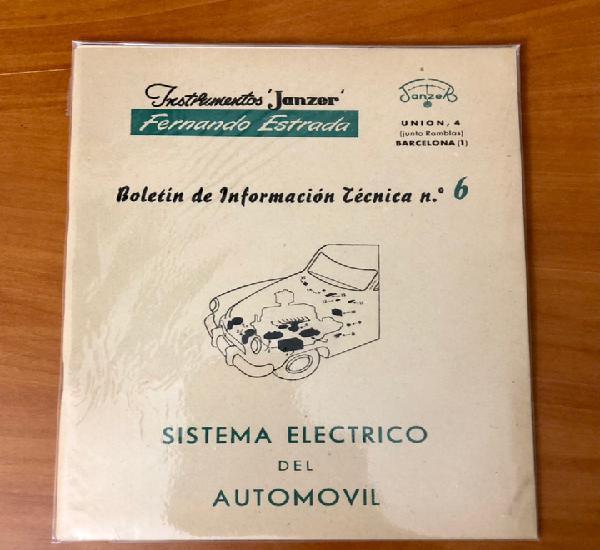 Sistema electrico del automovil, boletin de informacion