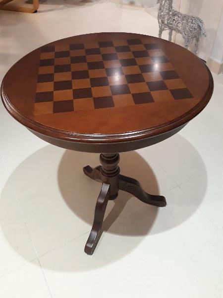 Mesa ajedrez madera