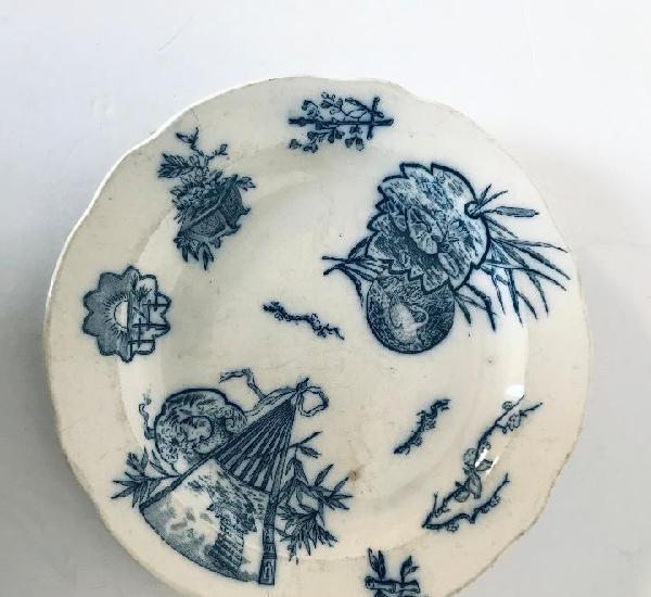 Antiguo plato/ fuente 1860s,porcelana origen holandés con