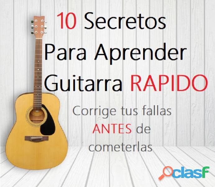 Curso rapido de guitarra