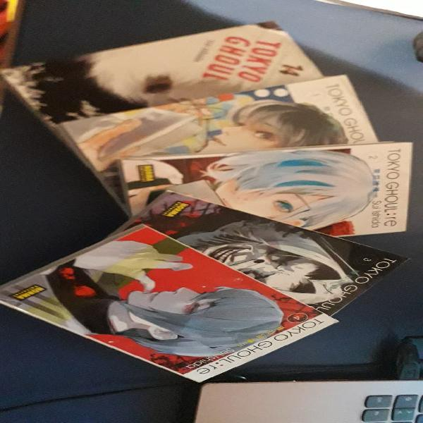 5 tomos tokyo ghoul/ tokyo ghoul: re