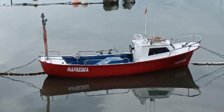 Barco madera con cabina
