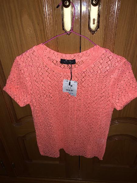 Camiseta color coral