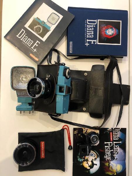 Cámara de fotos diana f+ retro con accesorios