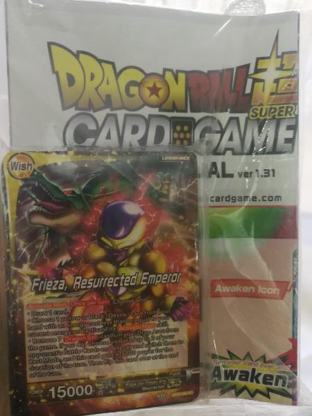 Juego cartas dragonball
