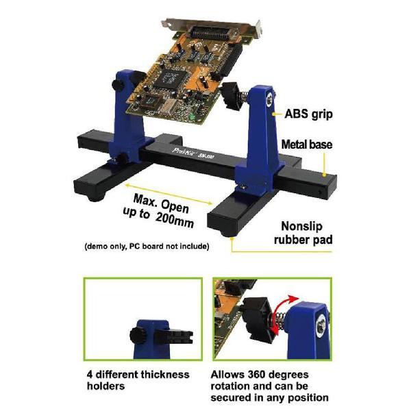 Kit soporte banco sujeción placas circuito impreso