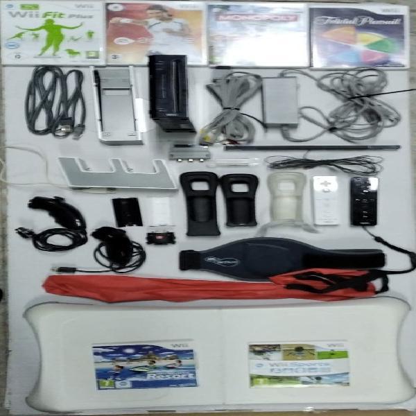 Wii con juegos y accesorios