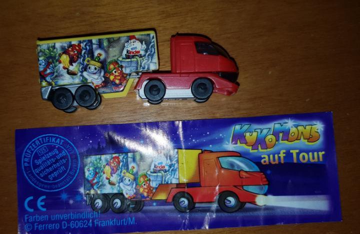 Figura kinder ferrero antigua coche camión kinderino años