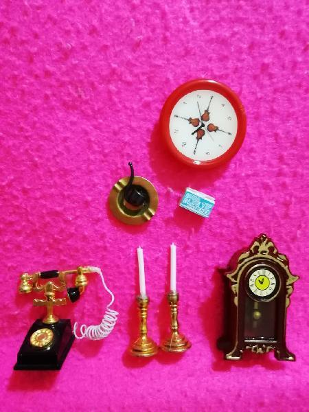 Complementos decoracion de casa de muñecas miniatu