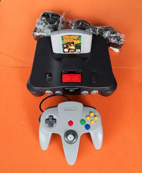 Nintendo 64 + expansion pak + donkey kong