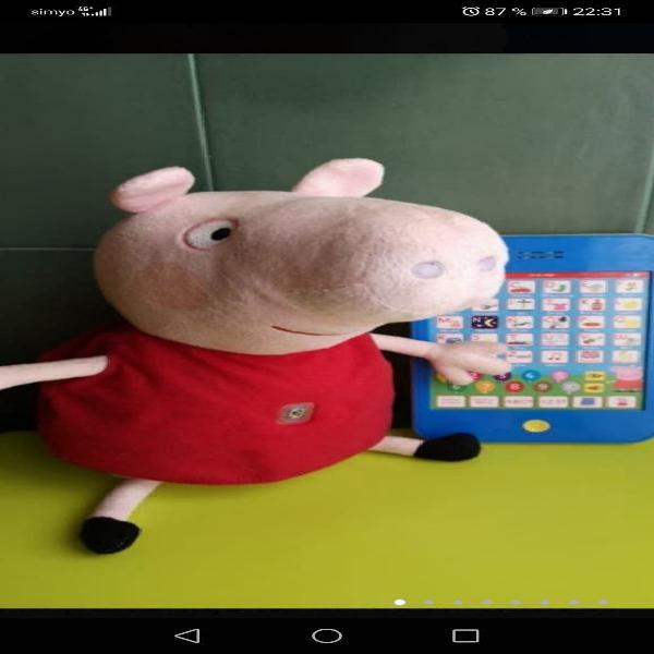 Peppa pig con tablet interactiva