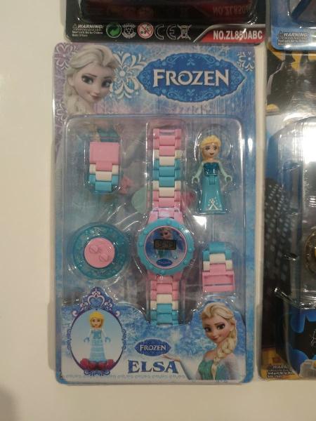 Reloj tipo lego frozen elsa nuevo