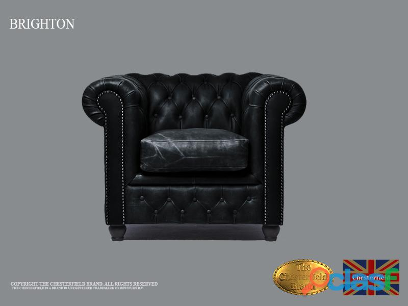 Sillón Cheste Vintage Negro, Cuero, The Chesterfield Brand