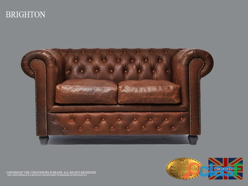 Sofá Chester Vintage Marrón,2 plazas, Cuero, The Chesterfield Brand
