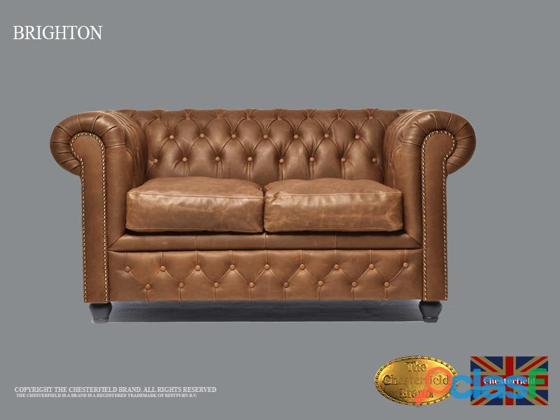 Sofá Chester Vintage Mocha,2 plazas, Cuero, The Chesterfield Brand