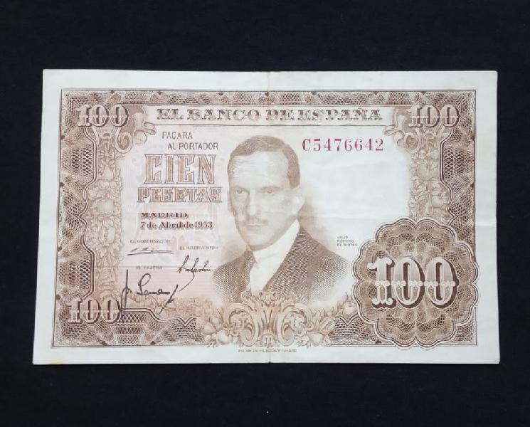 1953- billete 100 pesetas.