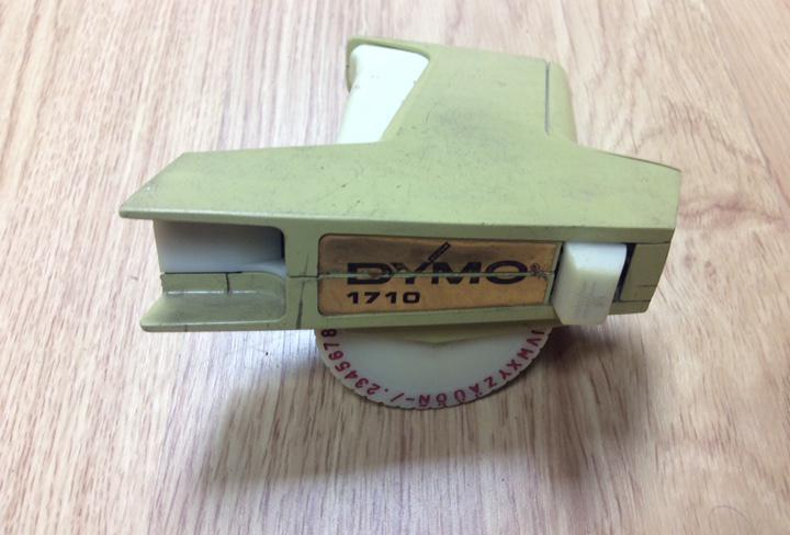 Antigua máquina de marcar dymo modelo 1710
