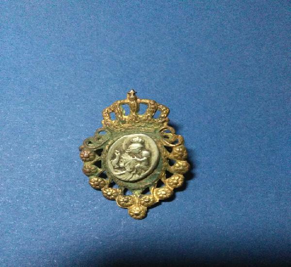 Antigua insgnia religiosa,epoca isabel ii,medalla plata