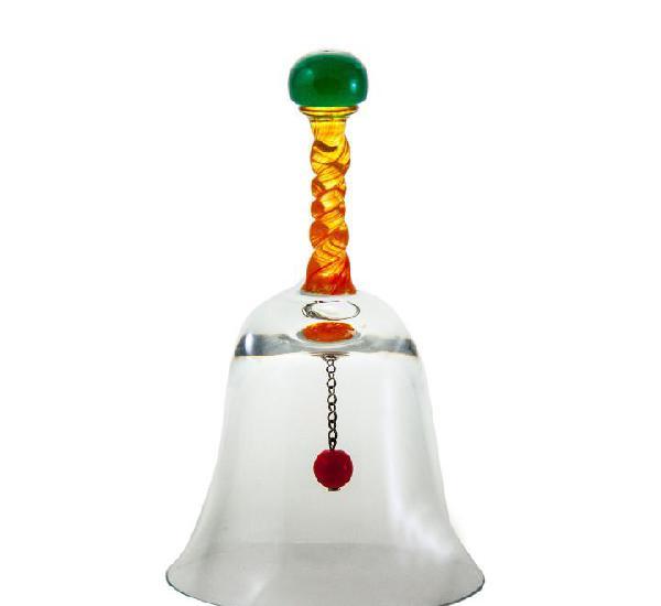Campanilla de cristal de bohemia- artículo nuevo