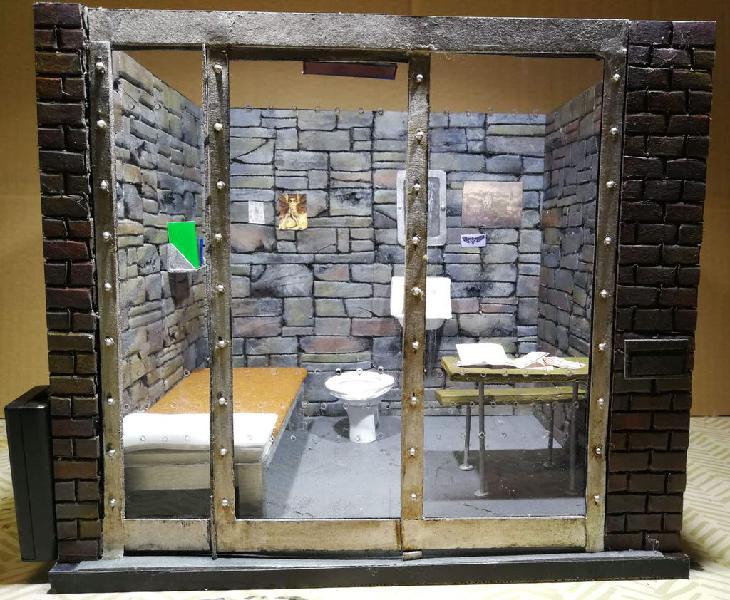 Diorama celda hannibal lecter 6''