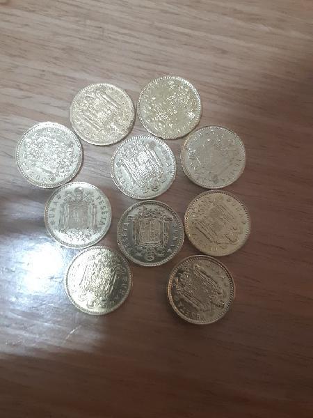 Monedas pesetas de francisco franco caudillo