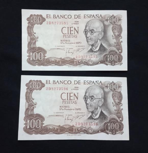 Numeración correlativa. 100 pesetas