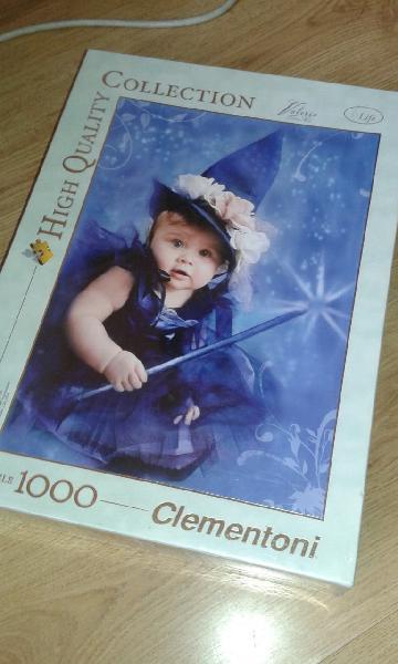 Puzzle nuevo clementoni 1000, niña-brujita