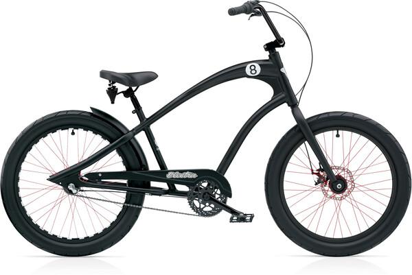 Bicicleta beach cruiser electra straight 8 8i negro 2021
