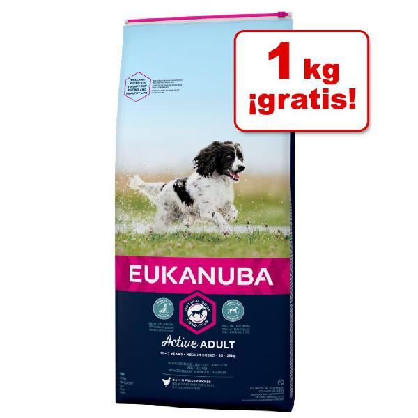 Eukanuba para perros de 12 y 15 kg en oferta: ¡1 kg gratis!
