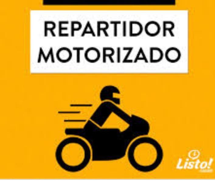 Hago repartos urgentes a domicilio en moto, llama
