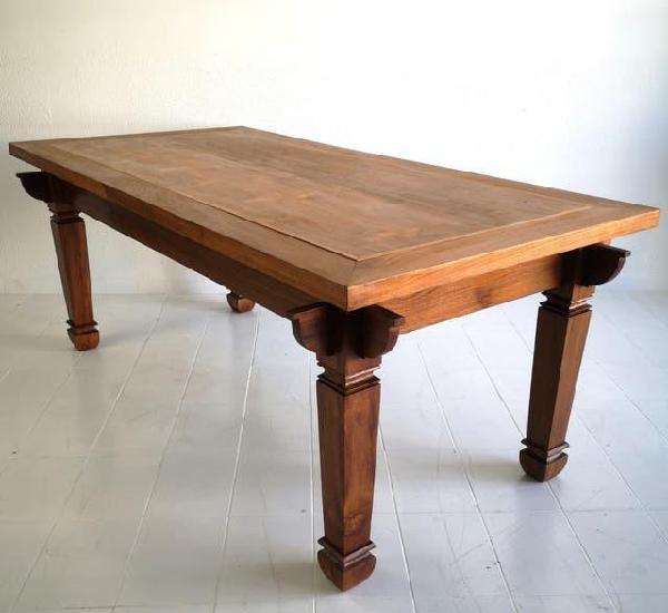 Gran mesa colonial en madera de teca maciza bali indonesia s