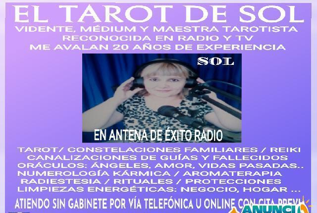 VIDENTE TAROTISTA PROFESIONAL RECONOCIDA EN RADIO Y TV -