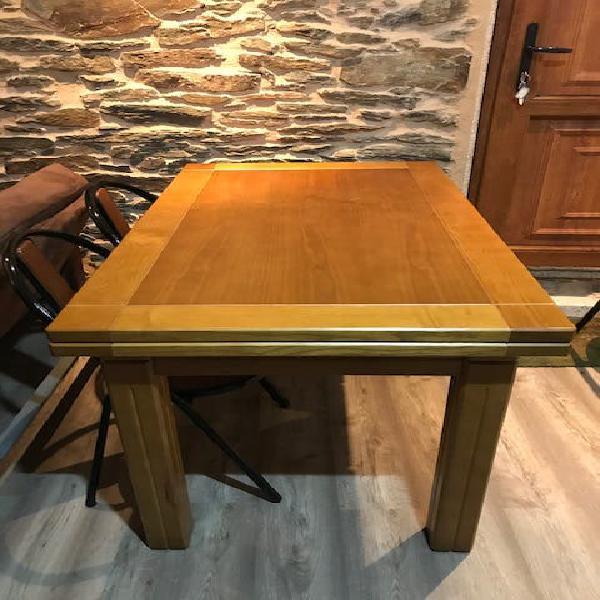 Mesa madera maciza extensible