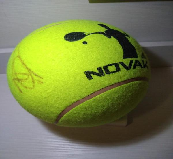 Pelota de tenis de tamaño balón firmada por novak (nole)