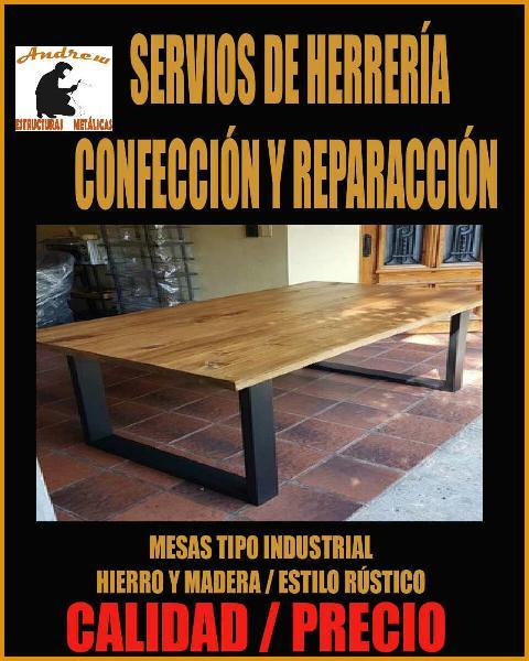 Confección y reparación estructura metálica