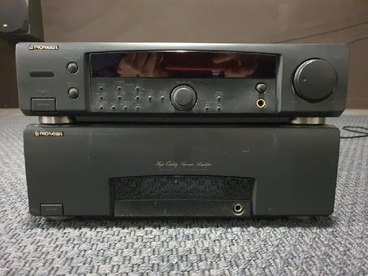200w pioneer amplificador y radio