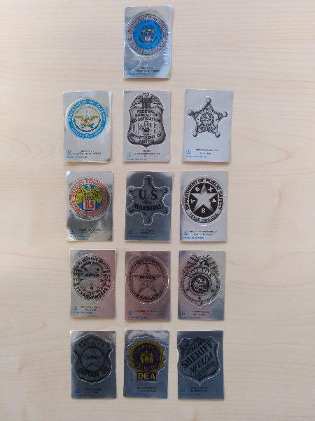 Colección stickers placas, emblemas, escudos usa