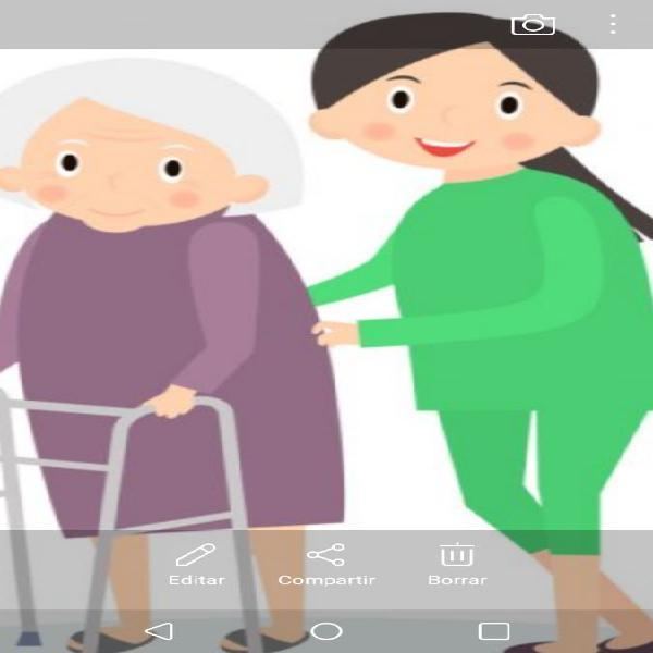 Cuidado y compañía a personas mayores.