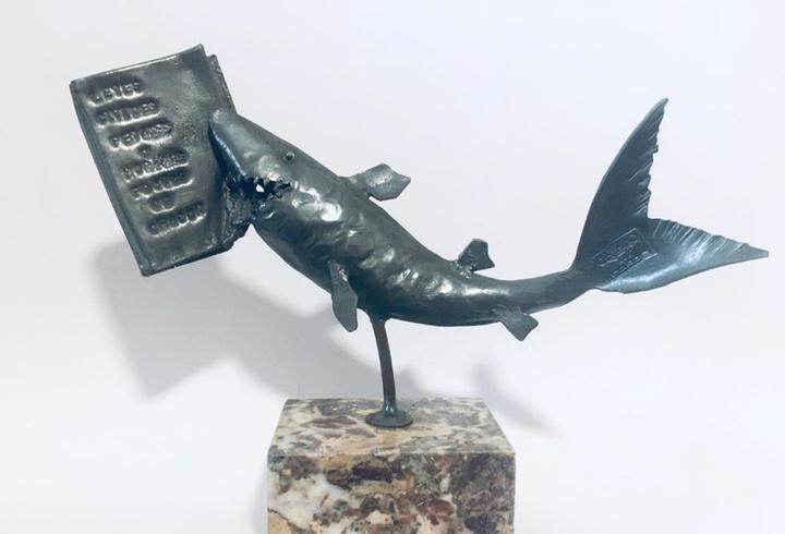 Fernando gamundi - escultura en hierro - playas de chacón -