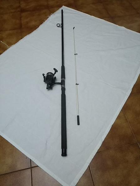 Ganga!! caña lanzadora de pesca cormoran