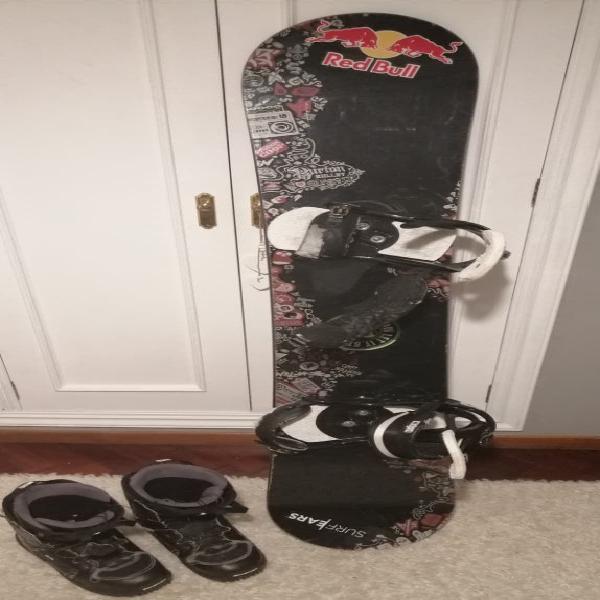 Tabla snowboard burton + botas salomon t.44